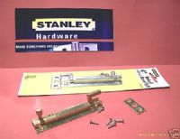 "STANLEY 4"" NECKED barrel Bolt. SOLID BRASS 1 pack with Screws 83-2130"
